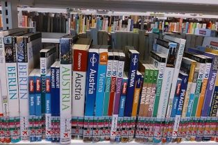 Travel books at the library