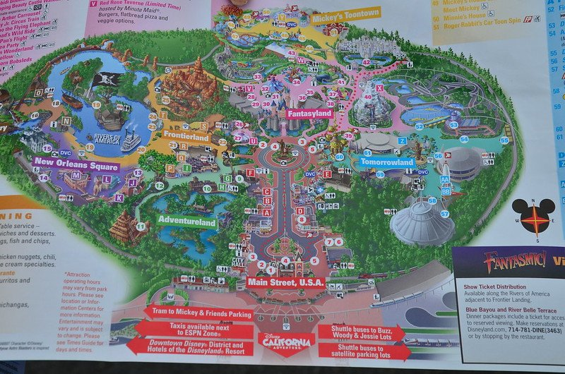 disneyland map by anthony g reyes