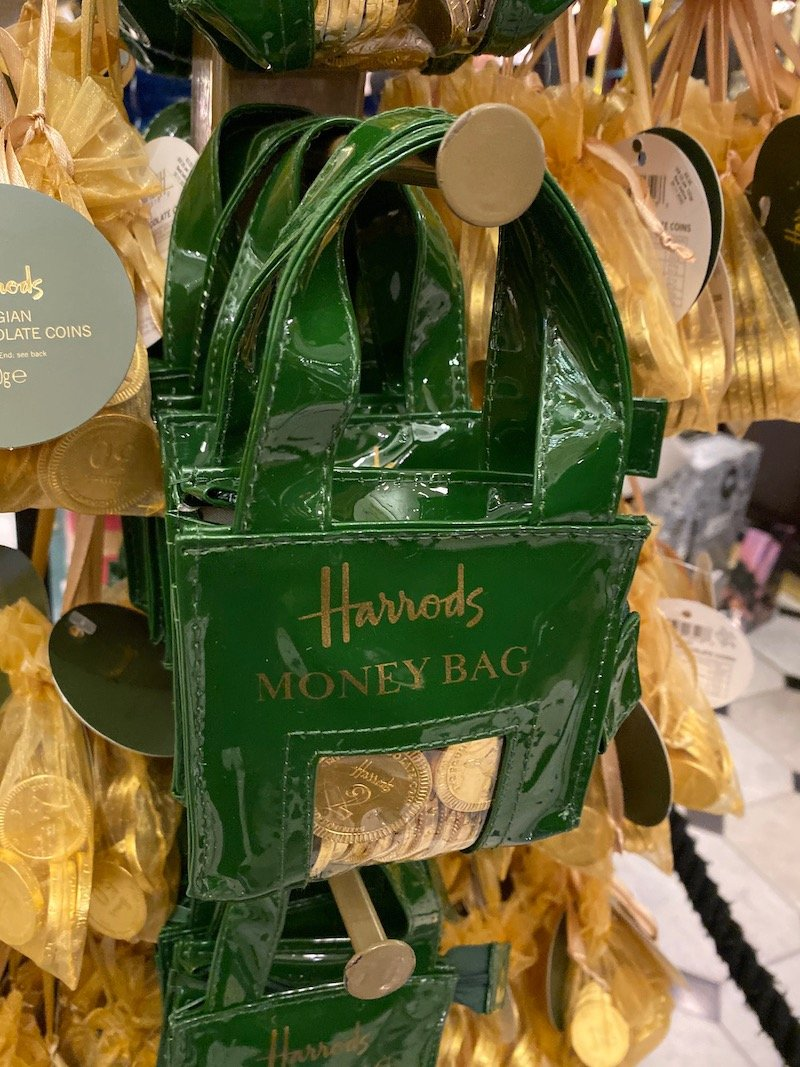 harrods money bag coins pic