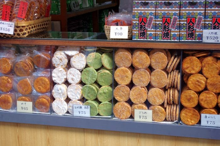 what to eat in tokyo - japanese senbei crackers