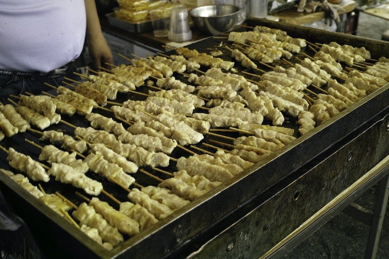 photo- yakitori skewers in japan by magic mary