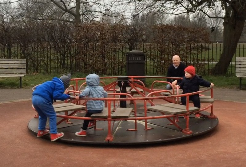 image - Gloucester Gate Playground in Regents Park Merry go round 800