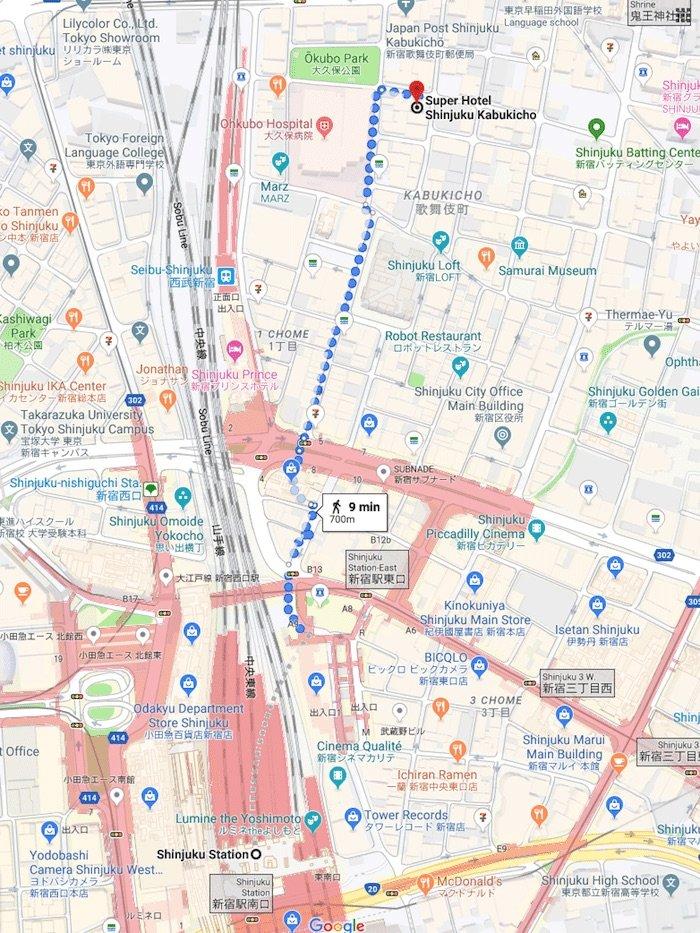 image - Super-hotel-shinjuku-walking-directions