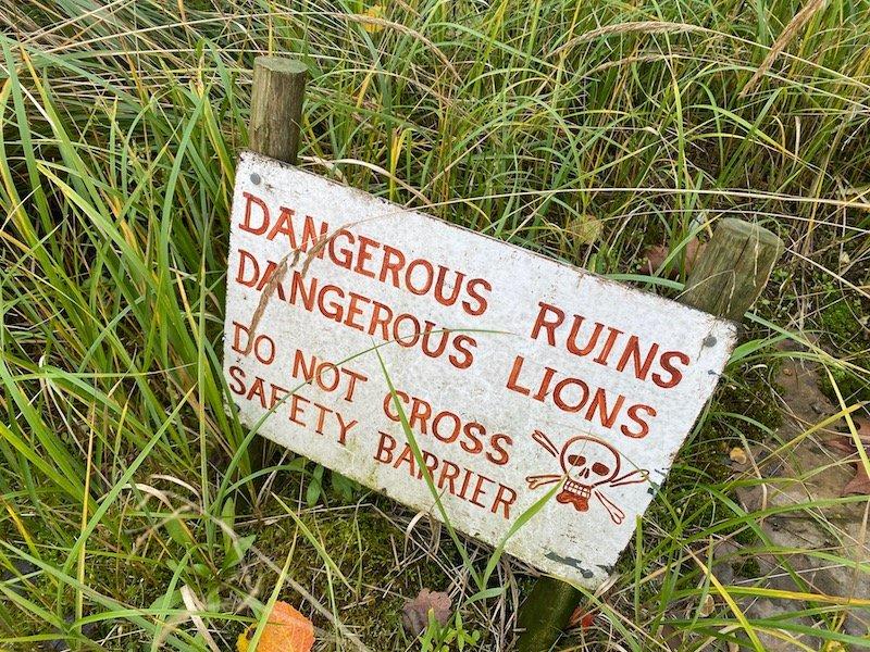 image - london zoo sleepovers UK gir lodge warning sign