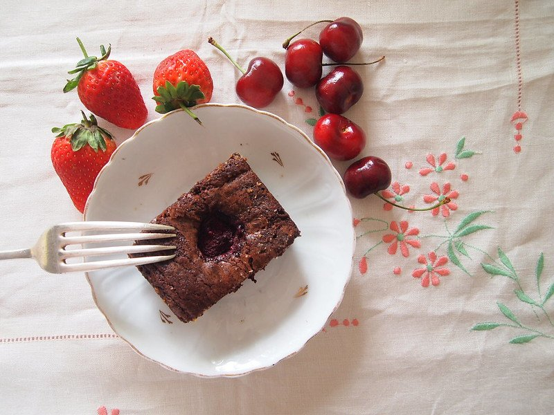 image - raspberry brownies by sugardaddy bakes