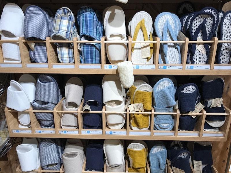 muji japanese slippers image