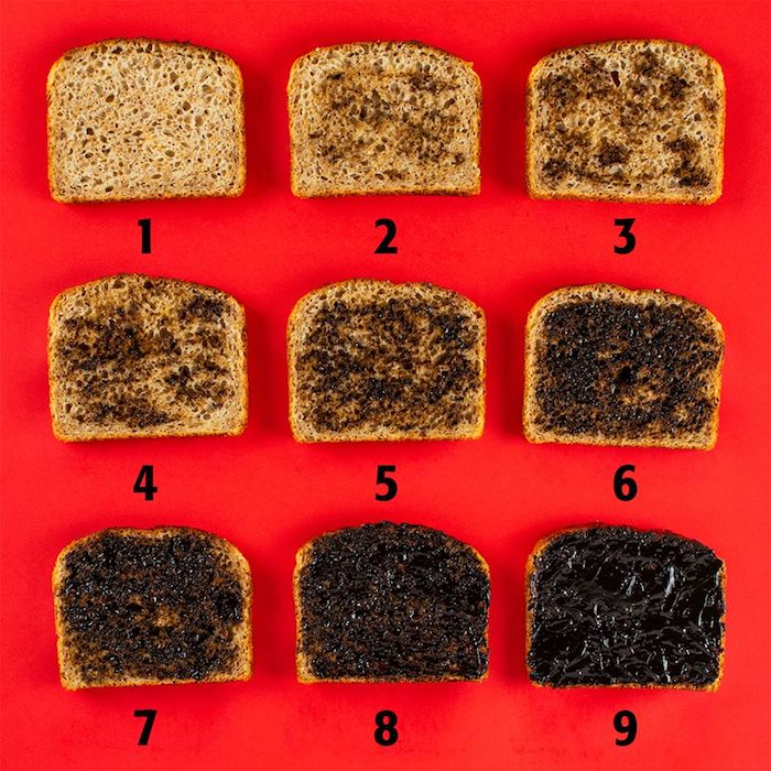 marmite levels on toast pic