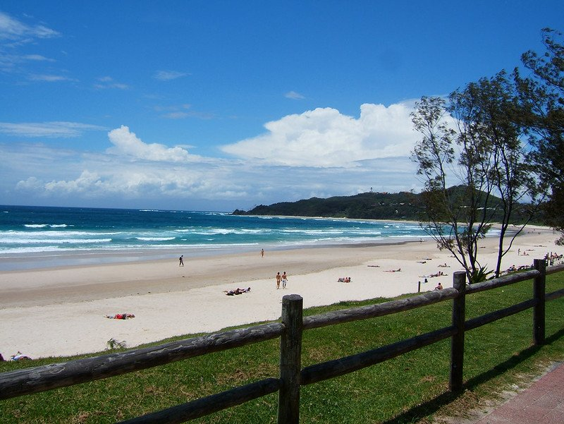 byron bay main beach by andy hay