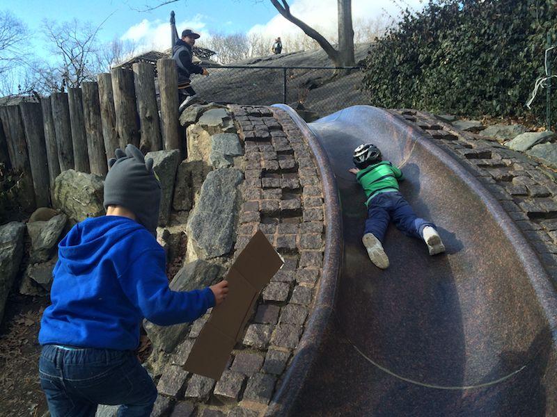image - billy johnson playground new york granite slide 800