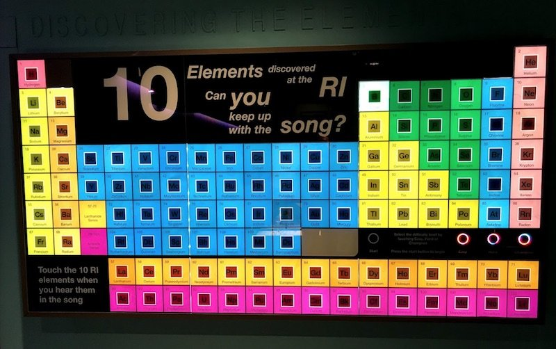 image - elements at the royal institution faraday museum