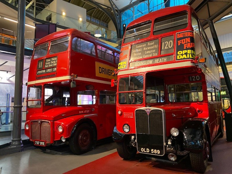 image - london transport museum double decker buses