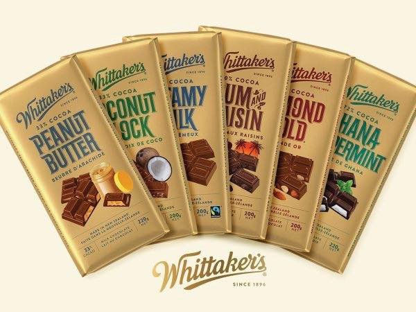whittakers chocolates range pic