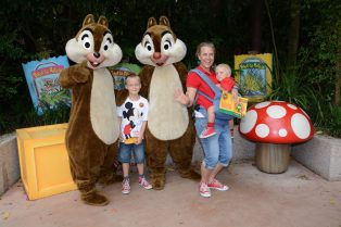 disney world animal kingdom with chip and dale