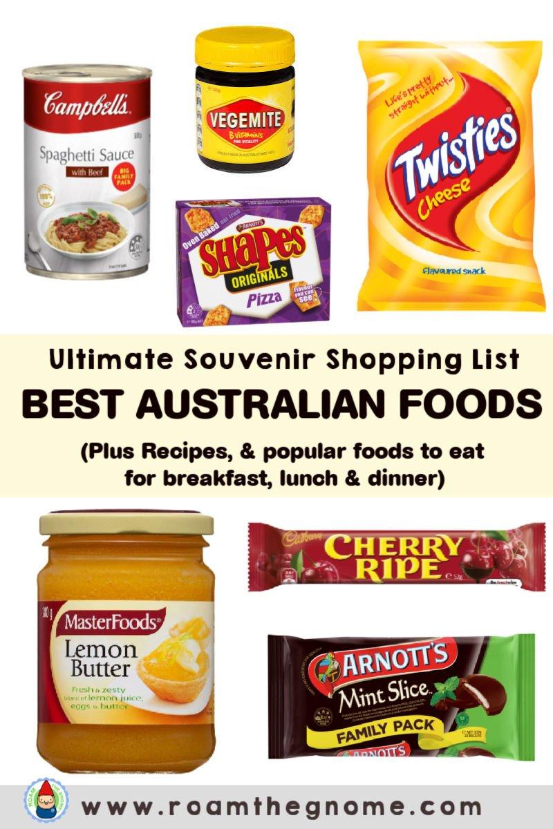 PIN popular australian food list