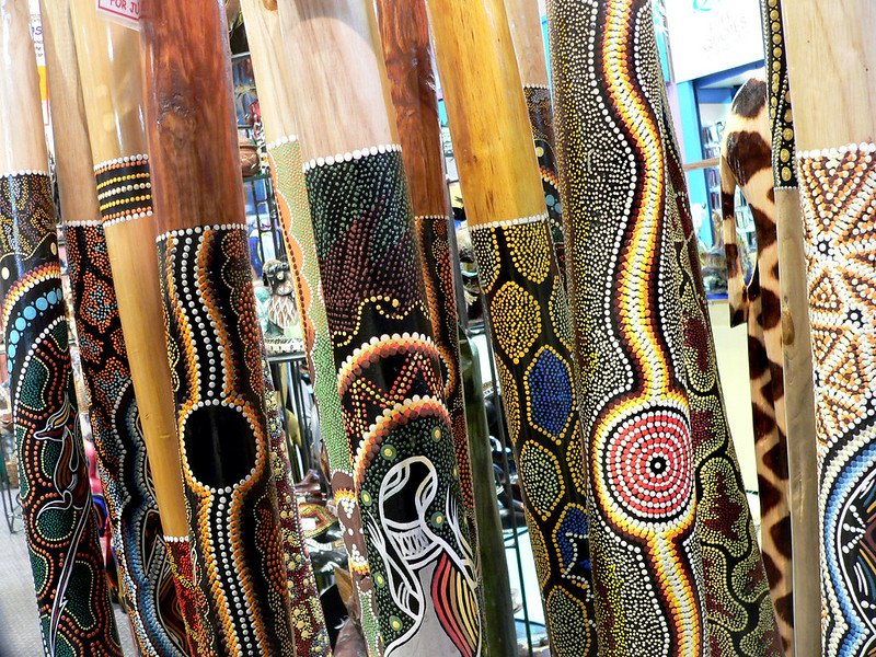 aboriginal didgeridoo pic by bernard spragg