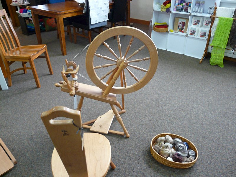 ashford spinning wheel by jane nearing