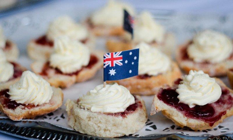 australian scones jam and cream by matthew kenwrick