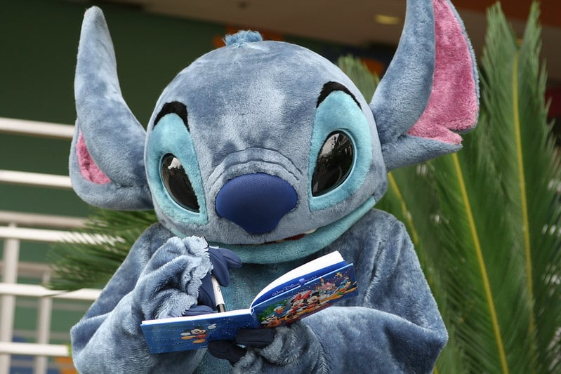 best disney souvenirs- stitch signing autograph book