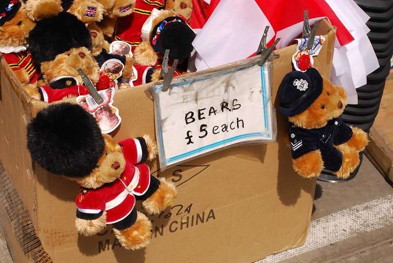 cheap london souvenirs bears by josh friedman