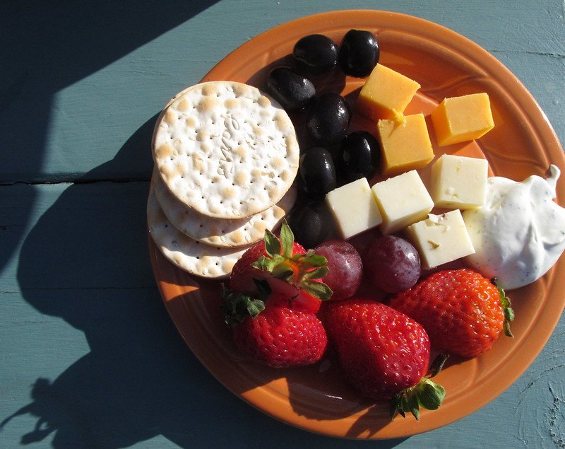 cheese and fruit plate by torbakhopper flickr
