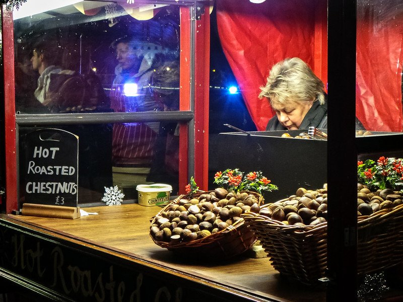christmas markets in london roasted chestnuts pic by garry knight