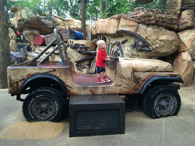 disney world playgrounds for kids - animal kingdom boneyard jeep pic