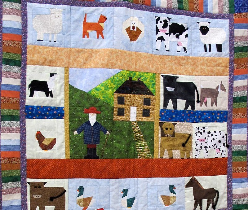 fabric handmade quilt by crabchick