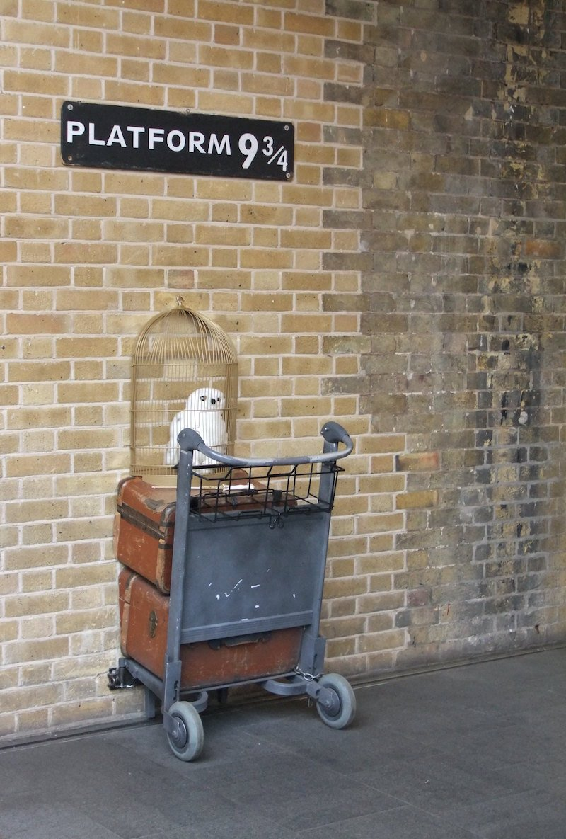 harry potter luggage trolley at platform 9 by florian bieser