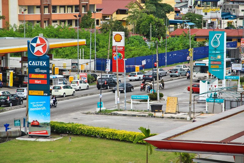 healthy road trip snacks at caltex gas station by sham hardy