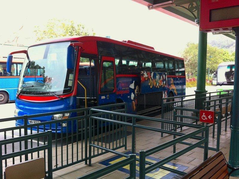hong kong disneyland resort shuttle bus image by marc van der chijs
