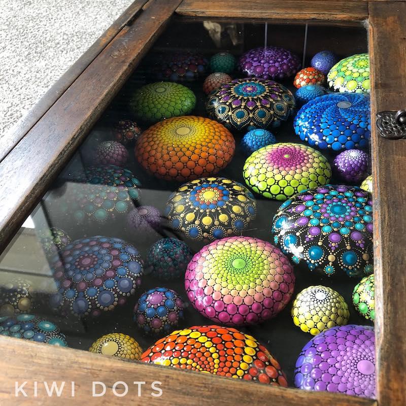 crafternoon tea markets pic- kiwi dots
