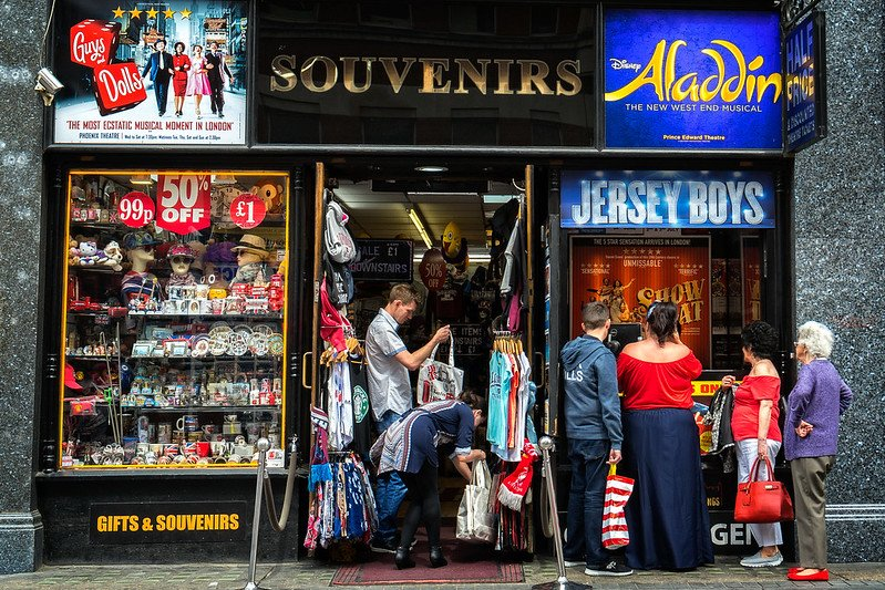 london souvenir shop picadilly circus by garry knight