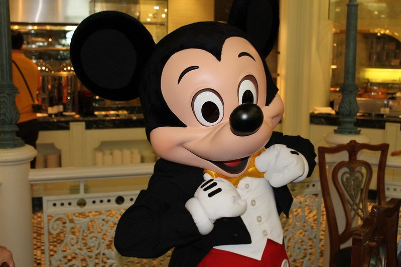 mickey mouse at hong kong disneyland hotel enchanted garden restaurant pic by loren javier
