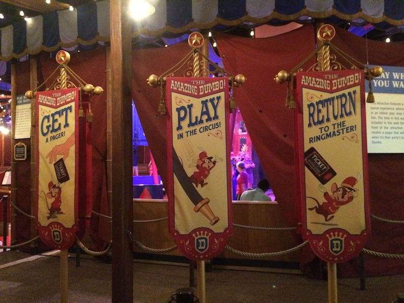 play in the circus at dumbo ride disney world