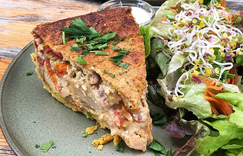 healthy road trip food quiche with salad by christoph scholz