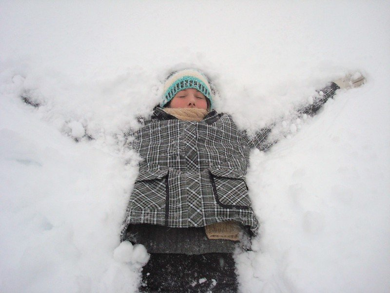 snow angel by jocelyn durston