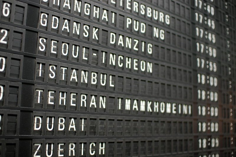 split flat airline arrivals board at frankfurt airport by gabriel white