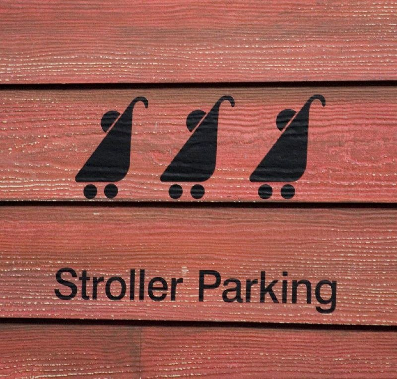 stroller parking sign by jessica paterson