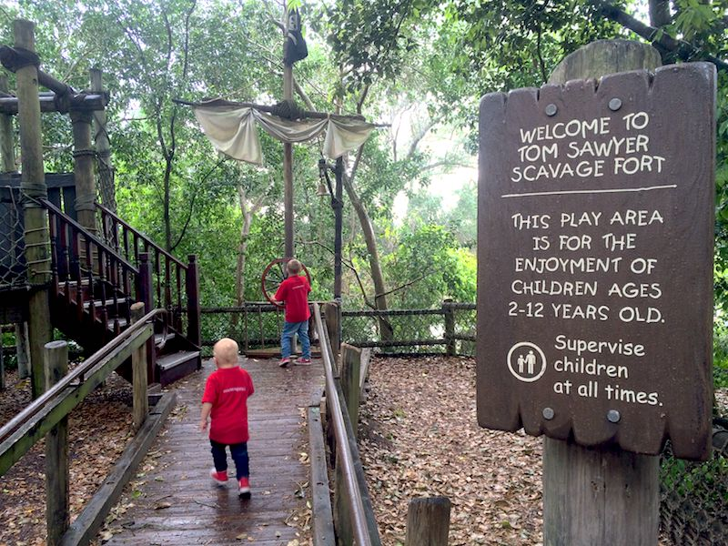 tom sawyer island magic kingdom Disney World playgrounds fort