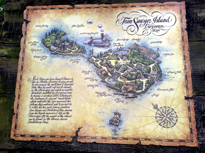 tom sawyer island map - disney world playgrounds pic