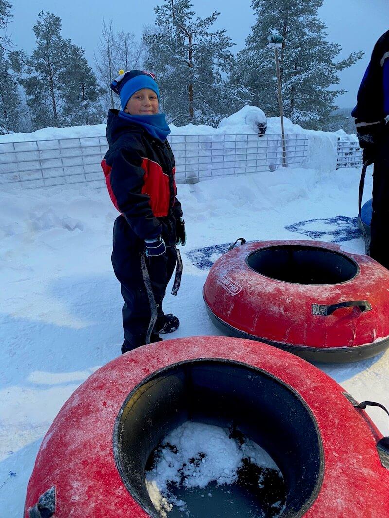Image - jack at snowman world rovaniemi slides