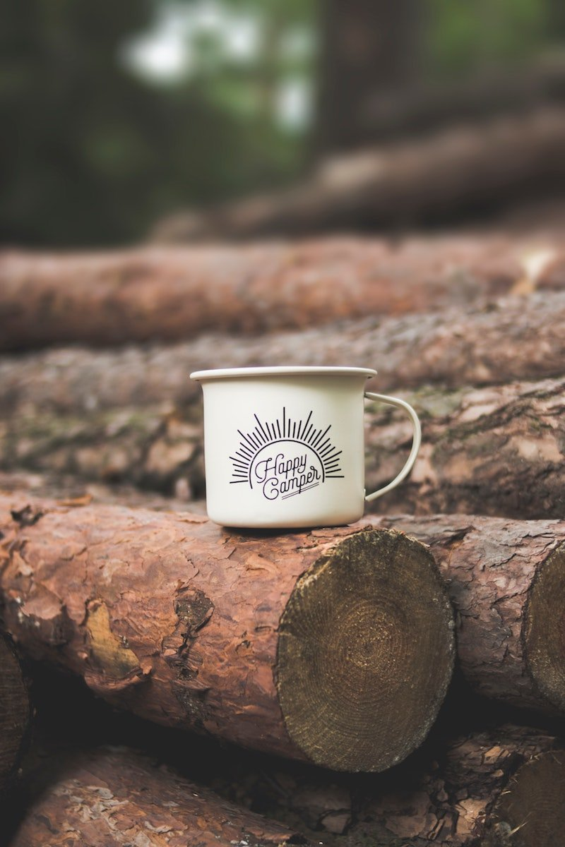 best camping coolers happy camper mug by dominika roseclay