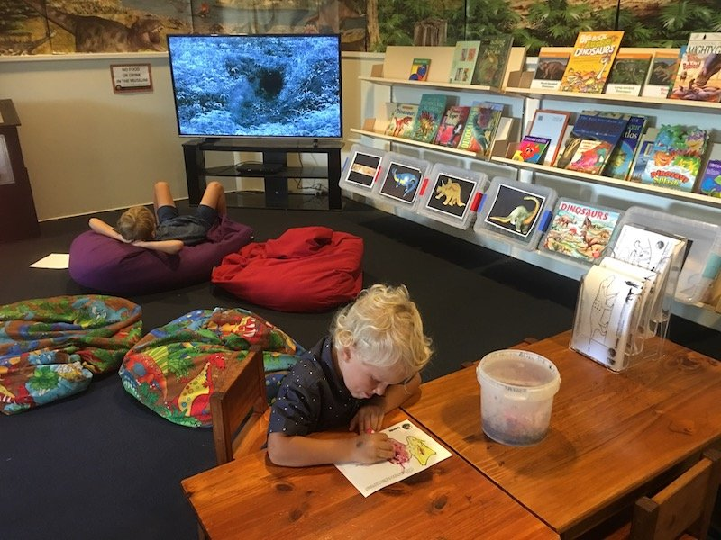 children's activities at the national Dinosaur Museum Canberra pic