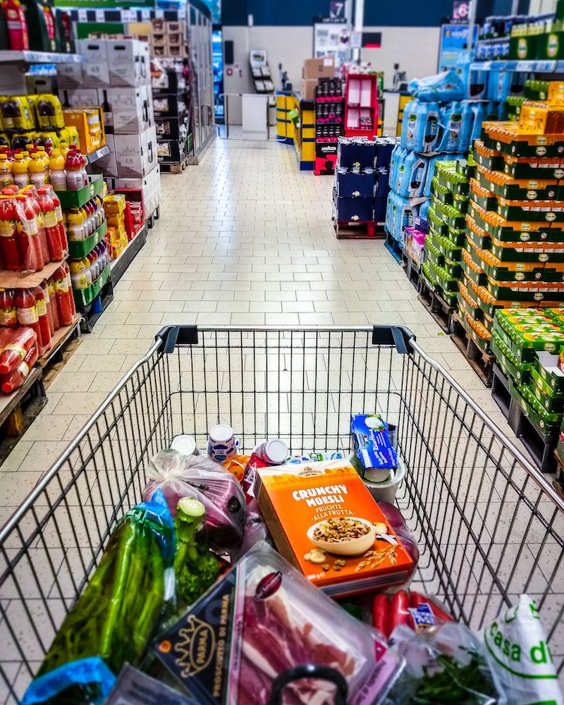 grocery shopping aisle with trolley pic by gerlos flickr