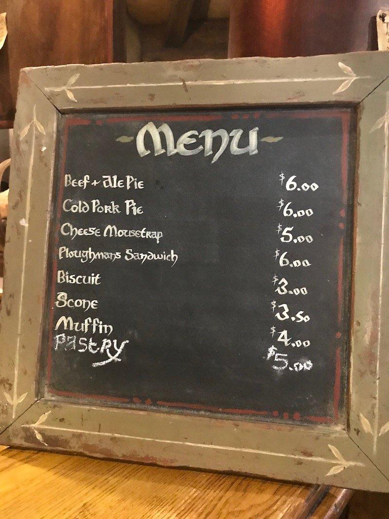 green dragon inn menu