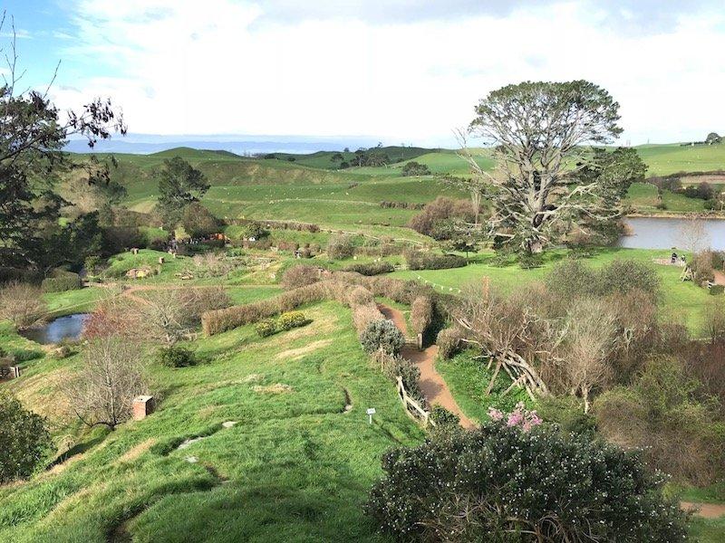 hobbiton movie set tours in new zealand - hobbiton landscape pic