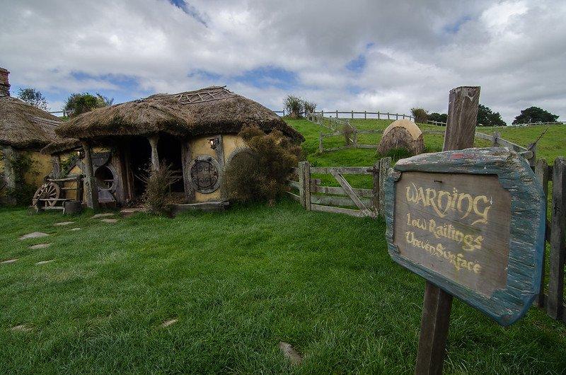 hobbiton movie set warning sign by tom hall