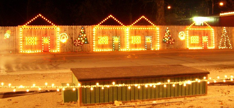 polar express north pole houses pic by andrew borgen