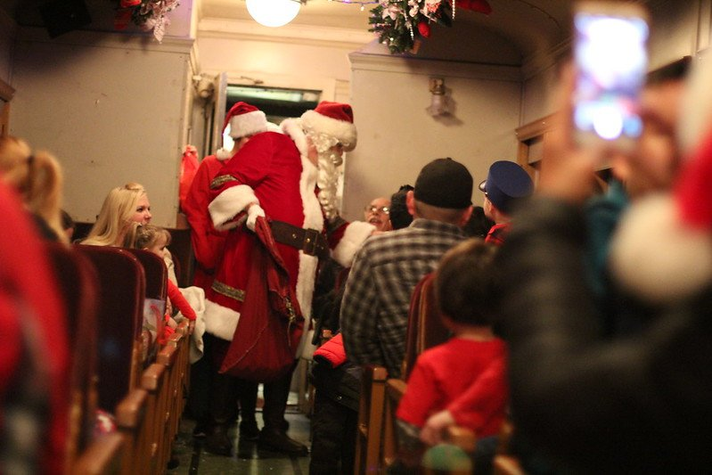 polar express santa visit pic by aaron anderer