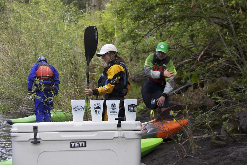 yeti cooler camping and rafting by zachary collier